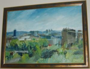 Beograd, ulje na platnu, slikar: Aleksandar Petrovic, 70×50 cm, 150 evra