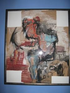 KRST, Slikar: mr Danilo Vuksanović, Uramljena sa staklom, ulje na papiru, 400 evra