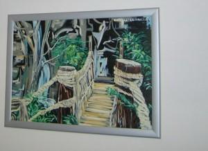 Most, Ulje na platnu – uramljena, Akademski slikar: Radenkovic Katarina, 60 x 70 cm, 180 evra