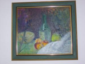Mrtva priroda, ulje na platnu, 40 x 30 cm, slikar Jakov Makai, 80 eura