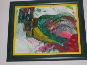 Mreza, bez rama 40x50 cm, sa ramom 52x62 cm, Popovic Milana, ulje na platnu, uramljena, 150 evra