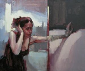 Noc bez sna, ulje na platnu, 55×65 cm, Stojan Milanov, 500 evra