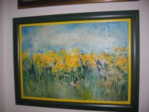 Zuto polje, ulje na platnu, 60×70 cm, uramljena, slikar iz Holandije Badovinac D., 800 evra