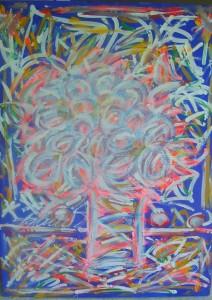 Apstrakcija 1, ulje na platnu, 60×80 cm, Emil Thomas Slovenija, 600 evra