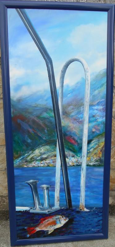Obala, ulje na platnu, 157×64 cm, akademski sl. Goran Bankovic, sertifikat,   400 eura