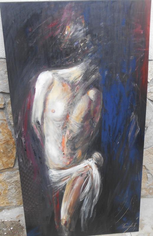 Isus, ulje na platnu, 127×68 cm, akademski sl. Goran Bankovic,  sertifikat, 300 eura