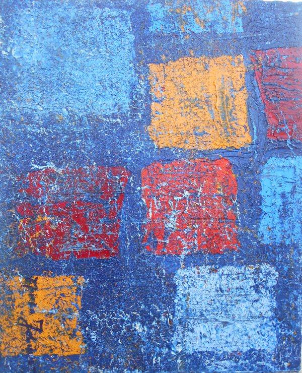 Apstrakcija 4, ulje na platnu, 55×45 cm, akademski Branka Jovanovic, 100 eura