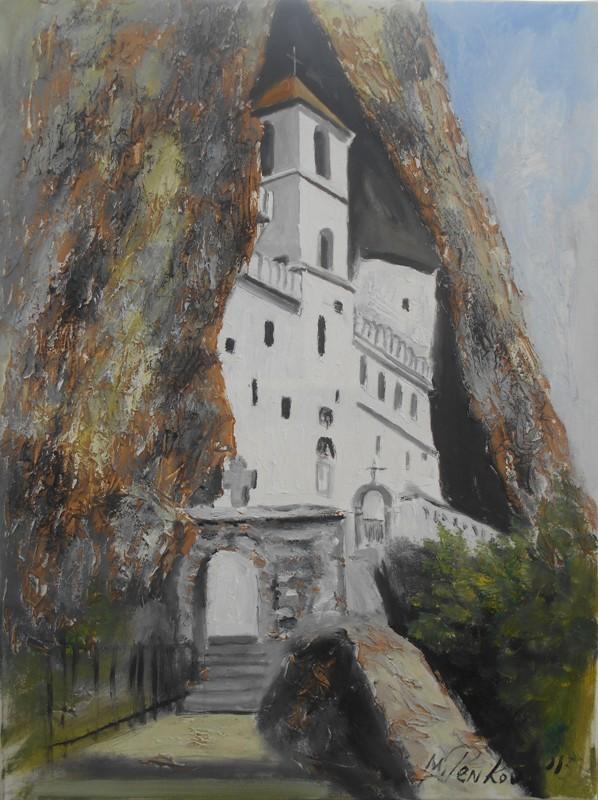 Ostrog, ulje na platnu, 80x60 cm, akademski slikar Penkov, 300 evra