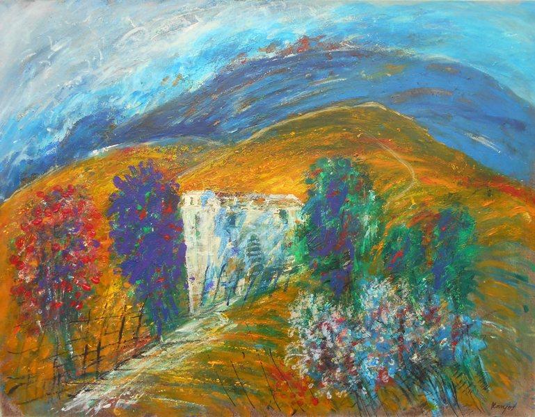 Suncana strana 2, ulje na platnu,60x80 cm, Novakovic Milivoje Kanjos, 400 eur