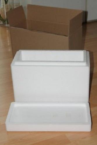 Svaka kutija napravljena je od kartona debljine 4 mm. Svaki zid u kutiji obložen je presovanim stiroporom sa unutrašnje strane debljine 1 cm.