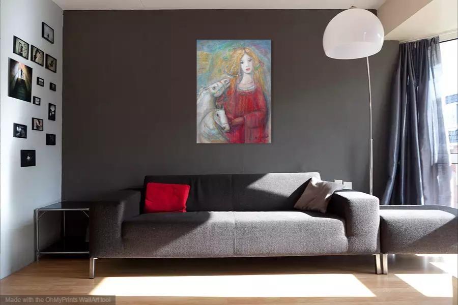 Kako bi umetnička slika Dama izgledala u Vašem domu 18
