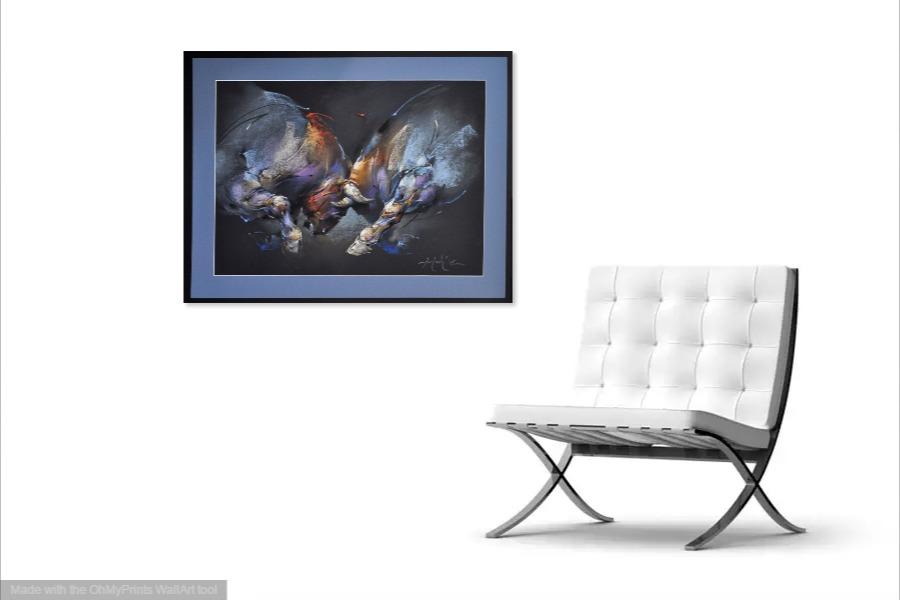 Kako bi umetnicka slika Borba bikova izgledala u Vasem domu 8
