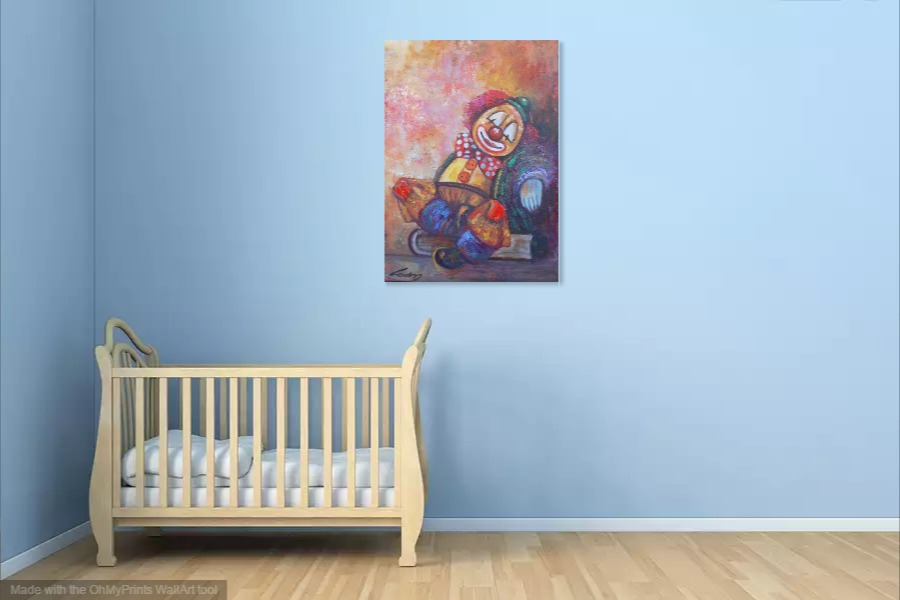 Kako bi umetnicka slika Klovn 2 izgledala u Vasem domu 10