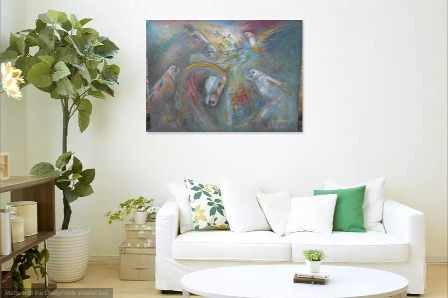 Kako bi umetnicka slika Konji izgledala u Vasem domu 4