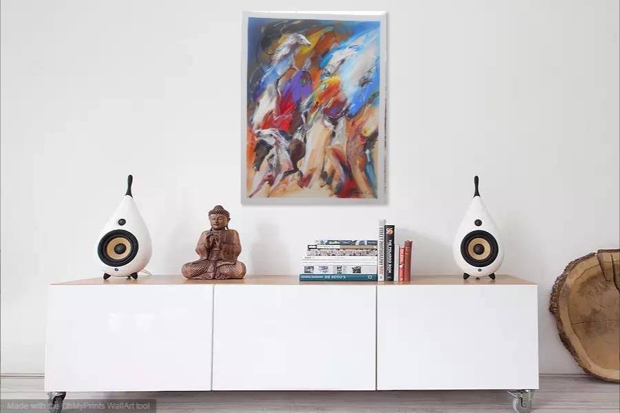 Kako bi umetnicka slika Krdo konja 3 izgledala u Vasem domu 13