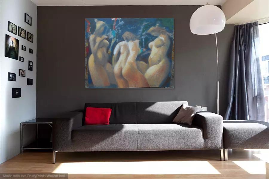 Kako bi umetnicka slika Sanjarenje izgledala u Vasem domu 15