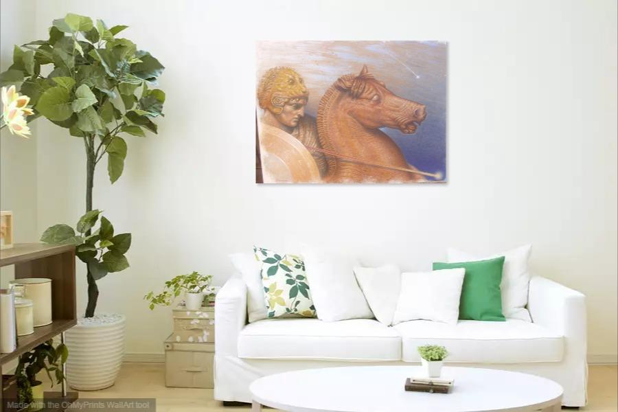 Kako bi umetnicka slika Svetlosni ratnik izgledala u Vasem domu 16
