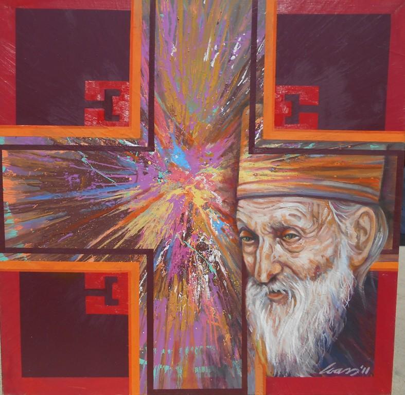7 Patrijarh Pavle i krst, ulje na platnu, 100×100 cm, Ivan Vanja Milanovic. sertifikat, 700 evra