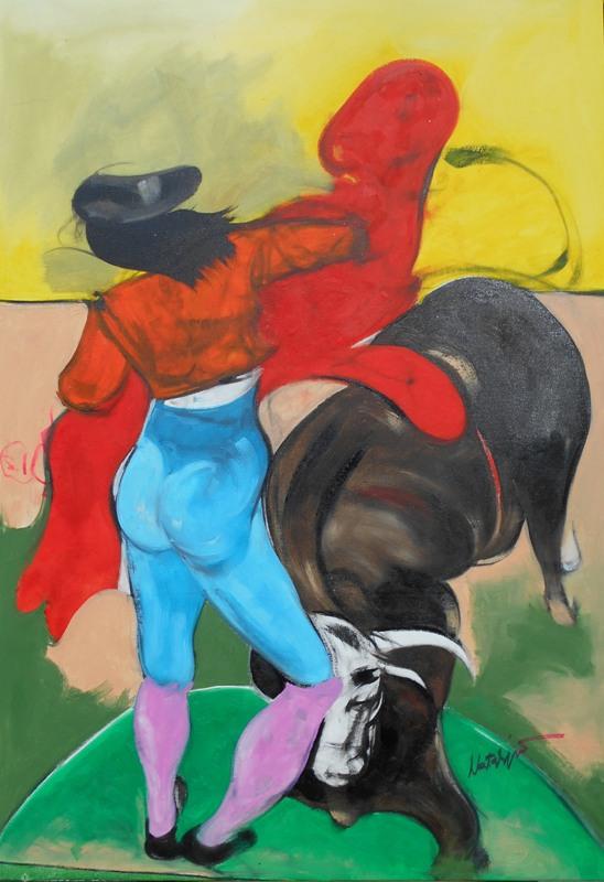 Toreador 1, Mr. akadem. slikar  Natalija Cimesa, ulje na platnu, 89×62 cm, 2017., sertifikat, 300 e