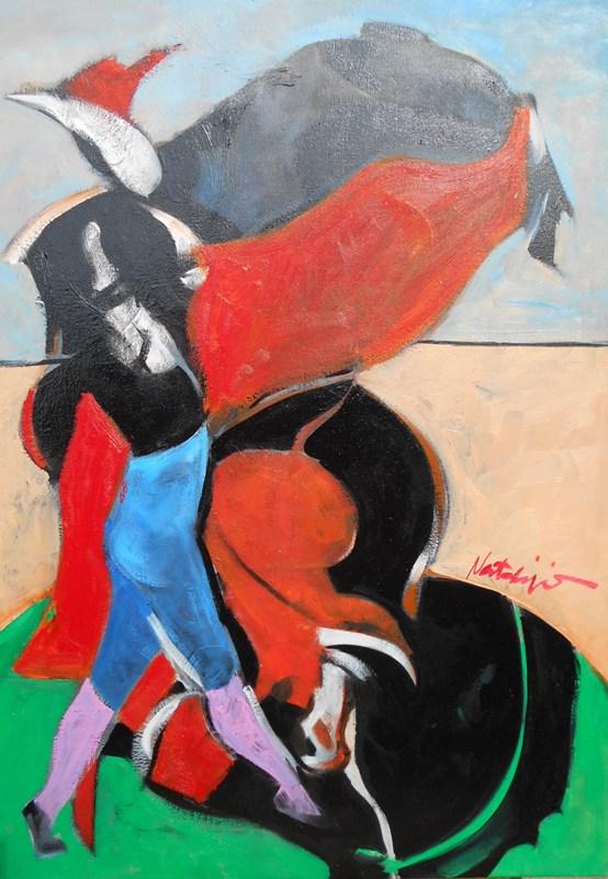 Toreador 6, Mr. akadem. slikar  Natalija Cimesa, ulje na platnu, 69×49 cm, 2017., sertifikat, 160 e