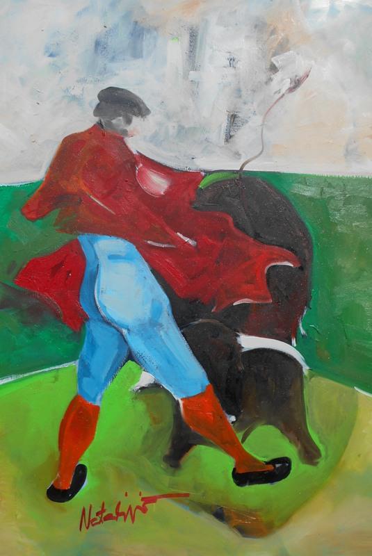 Toreador 7, Mr. akadem. slikar  Natalija Cimesa, ulje na platnu, 69×49 cm, 2017., sertifikat, 160 e