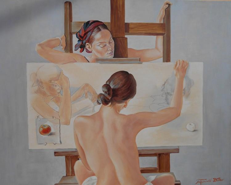 Slika u nastajanju 3, Dusko Trifunovic, 80×100 cm, ulje na platnu, sertifikat, 500 eura