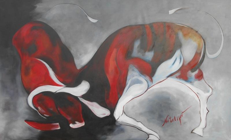 Korida, Mr. akadem. slikar  Natalija Cimesa, ulje na platnu, 126×210 cm, 2017., sertifikat, 2000 e