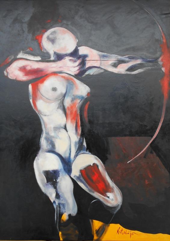Strelac, Mr. akadem. slikar  Natalija Cimesa, ulje na platnu, 177×127 cm, 2017., sertifikat, 1500 e