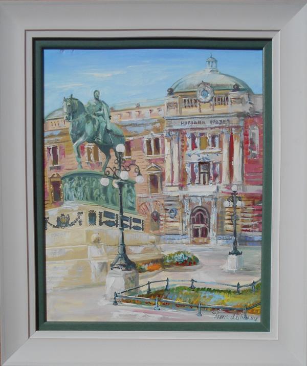 Narodni muzej, Goran Bankovic, ulje na platnu, sa 64×54 cm, bez 50×40 cm, sertifikat, 90 eura