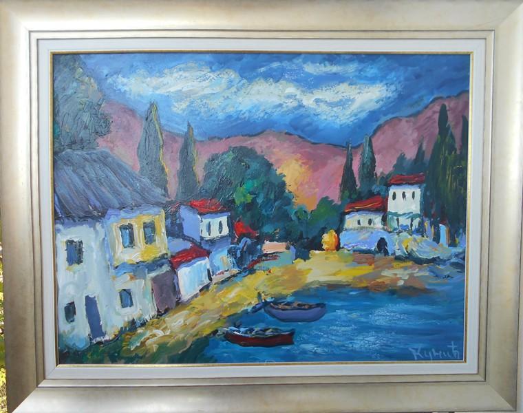 Hercegovina 7, ulje na platnu, Dragan Kunic, sa 83×103 cm, bez 60×80 cm,  sertifikat, 400 eura