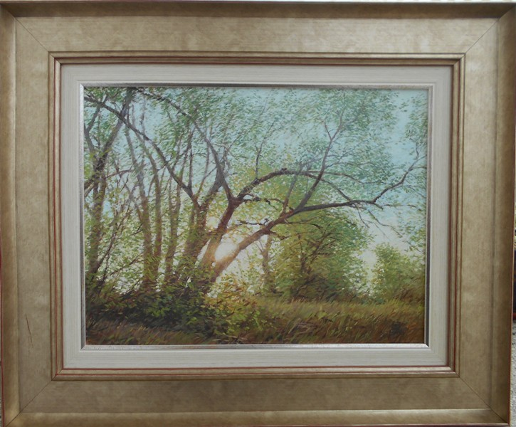 Pejzaz,  Vladimir Vojvodic, ulje, na platnu, sa 47×57 cm, bez 40X30 cm, sertifikat, 200 evra