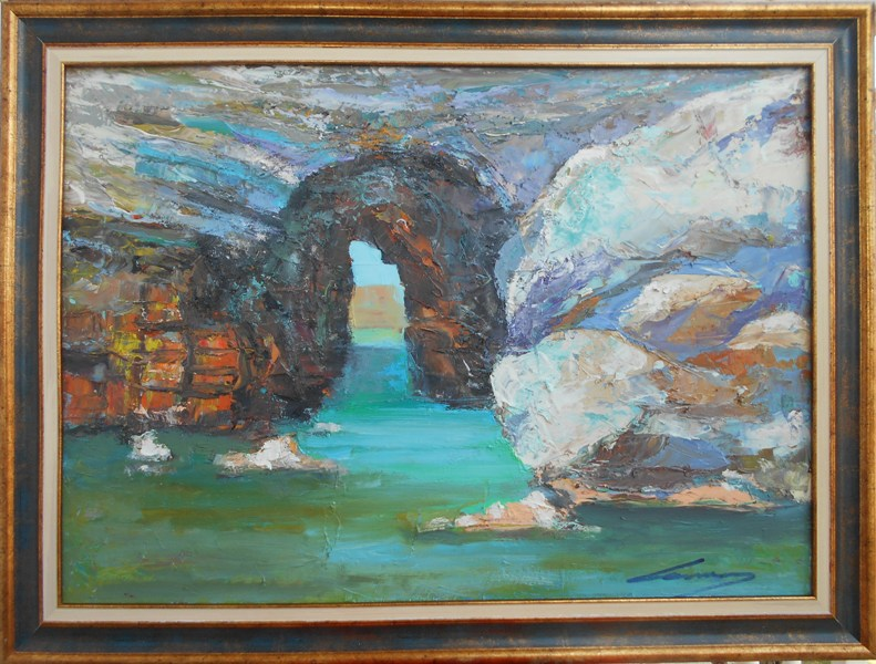 Prolaz, Ivan Milovanovic Vanja, ulje na platnu, sa 61×81 cm, bez 50×70 cm, sertifikat,  190 eura