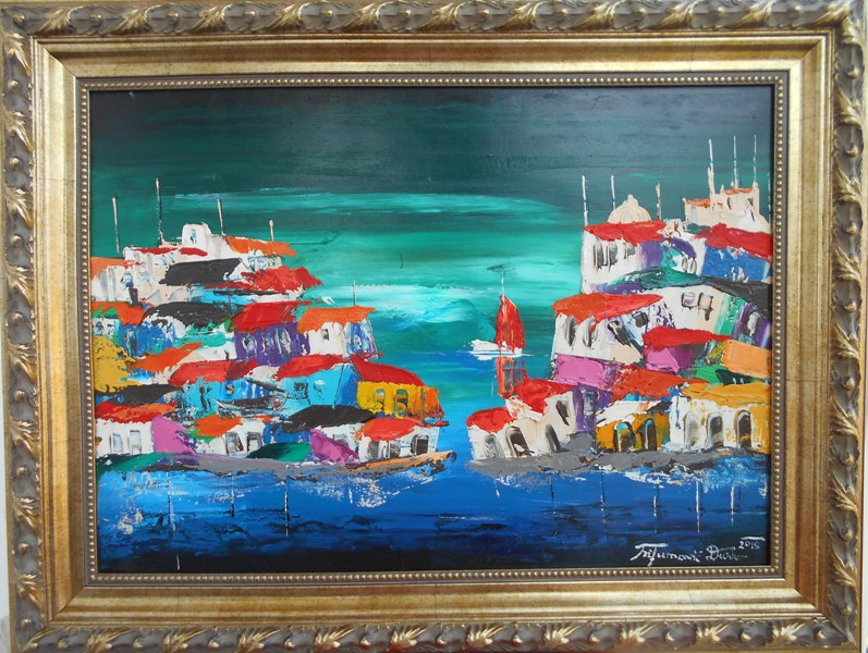 Sicilija 10, Dusko Trifunovic, sa 66×86 cm, bez 50×70 cm, ulje na platnu, sertifikat, 300 eura – REZERVISANA!!!