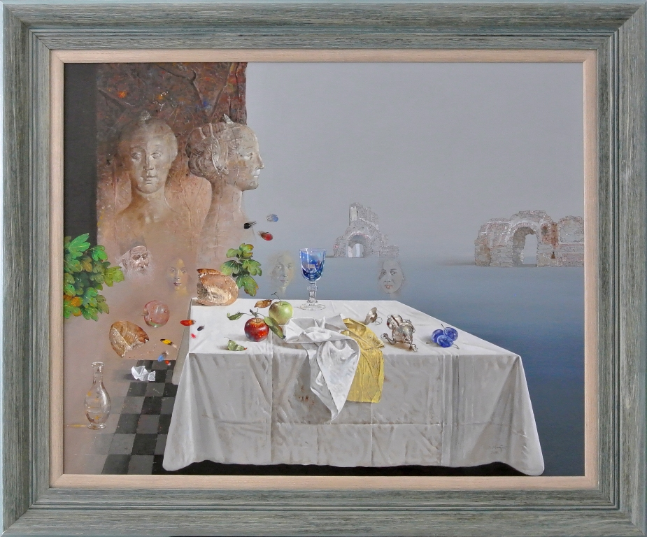 Ofelija, Milan Miletic, sa 103×123 cm, bez 80×100 cm. ulje na platnu, sertifikat, 2018, 3000 eura