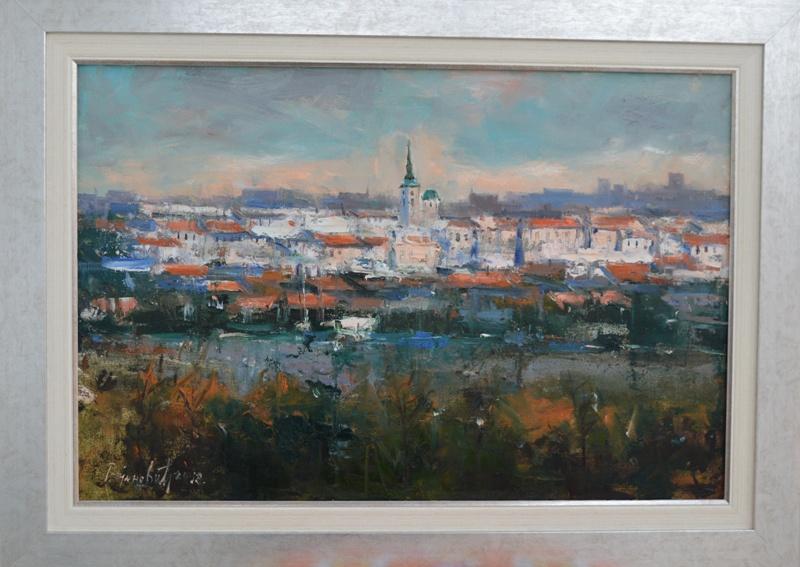 Beograd 1, Radovan Vojinovic, sa 53×73 cm, bez 40×60 cm, ulje na platnu, sertifikat, 150 eura