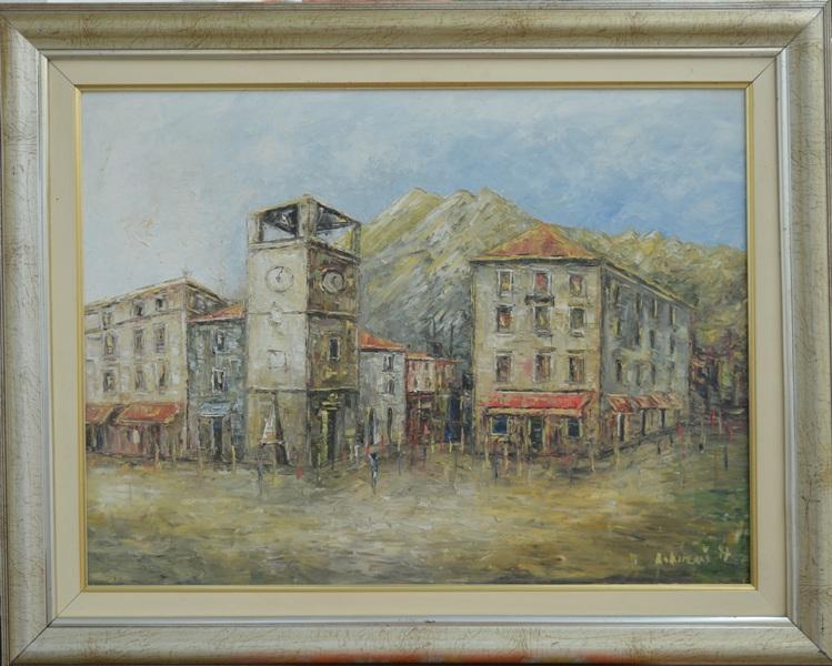 Grad 2, Risto Kiperas, ulje na platnu, sa 60×75 cm, bez 45×60 cm, sertifikat, 600 eura