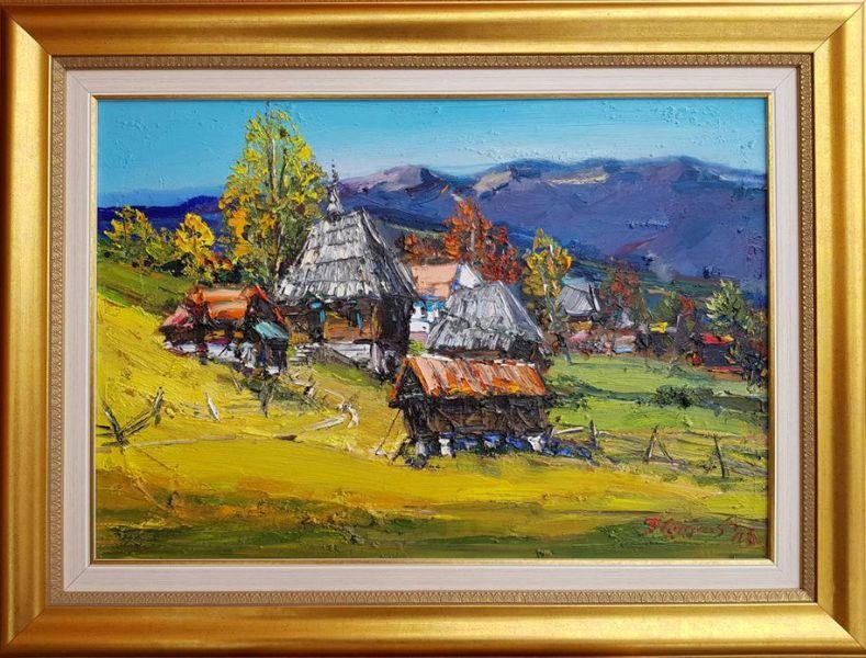 Zlatibor 9, Đorđe Stanić, ulje na platnu, lux ram, sa 61×81 cm, bez 45×65 cm,  sertifikat, 350 eura