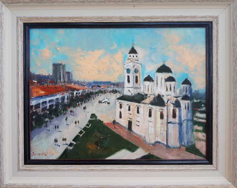Smederevo 3, Radovan Vojinovic, sa 40×50 cm, bez 30×40 cm, ulje na platnu, sertifikat, 110 eura