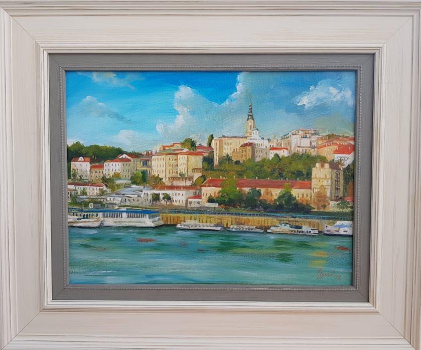 Beograd 2, Marija Djukic, ulje na platnu, sa 47×57 cm, bez 30×40 cm,  sertifikat, 90 eura