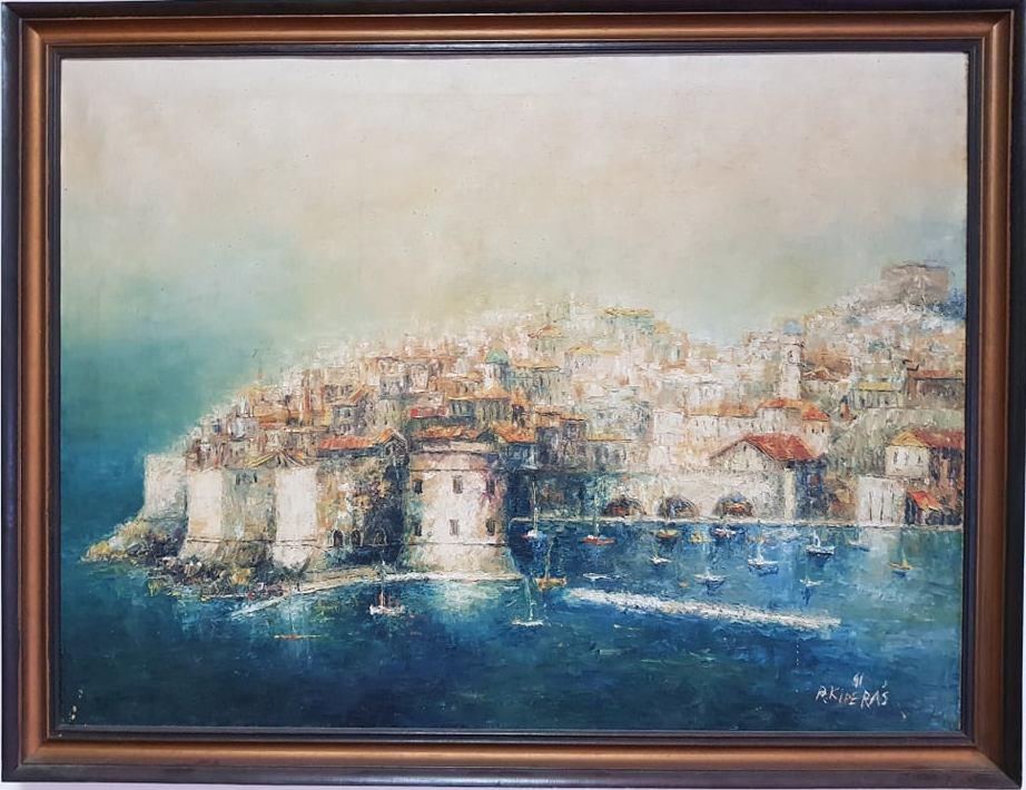 Dubrovnik , Risto Kiperas, ulje na platnu, sa 67×87 cm, bez 60×80 cm, 1991.god, sertifikat, 800 eura