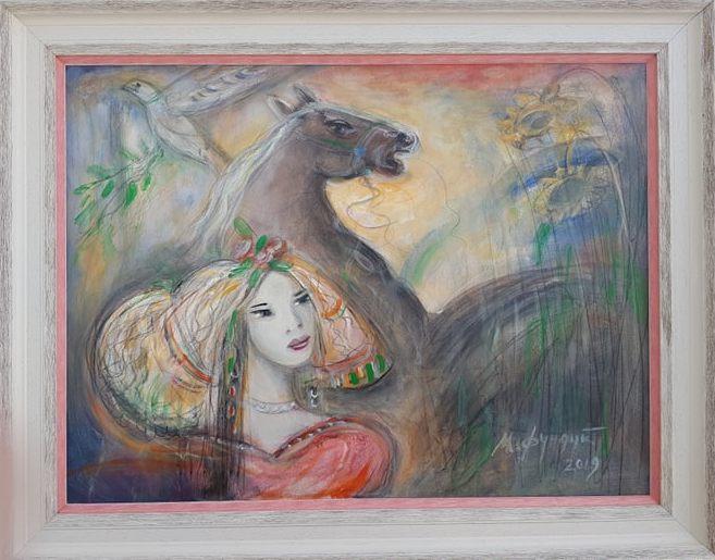 Misticna, Momcilo Moma Fundup, ulje na platnu, sa 73×93 cm, bez 60×80 cm, sertifikat, 300 evra
