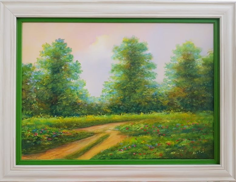 Put u neznano, Darko Bartos, ulje na platnu, sa 65×85 cm, bez 50x70cm, lux ram, sertifikat, 180 evra