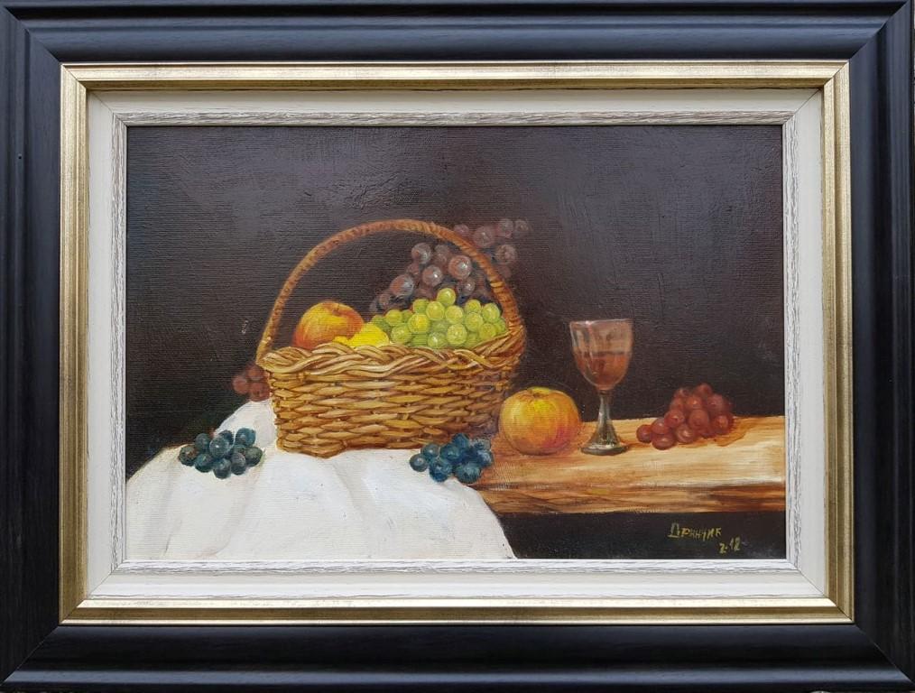Kompozicija 2, Zarko Drincic, ulje na platnu, sa 46×61 cm, bez 30×45 cm, sertifikat, 170 eura
