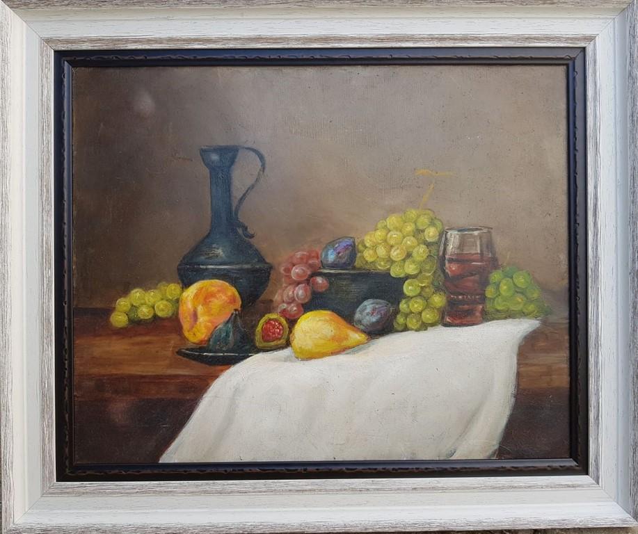 Kompozicija 4, Zarko Drincic, ulje na platnu, sa 51×61 cm, bez 40×50 cm, sertifikat, 160 eura
