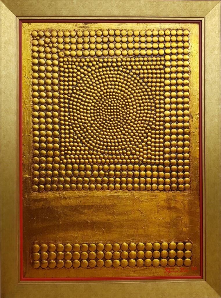 Podsvest, Dusko Trifunovic, sa 115×85 cm, bez 100×70 cm, metalne nitne pozlata i ulje na lesonitu, sertifikat, 1.500 eura