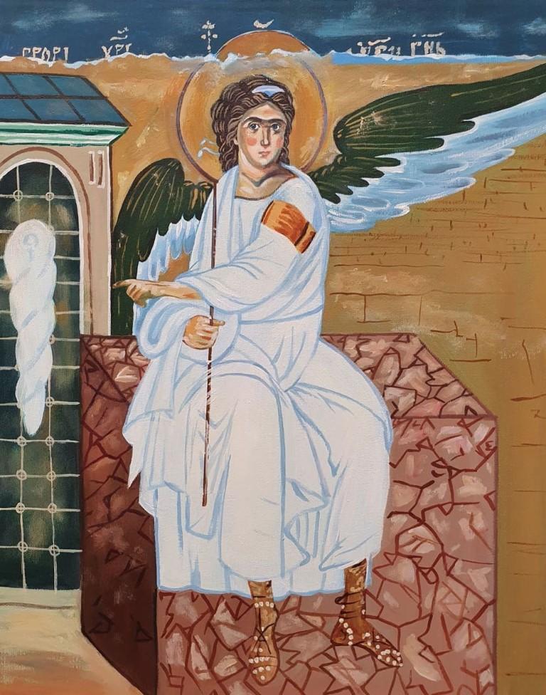 Beli Andjeo 1, Marija Djukic, ulje na platnu, 50×40 cm,  sertifikat, 110 eura