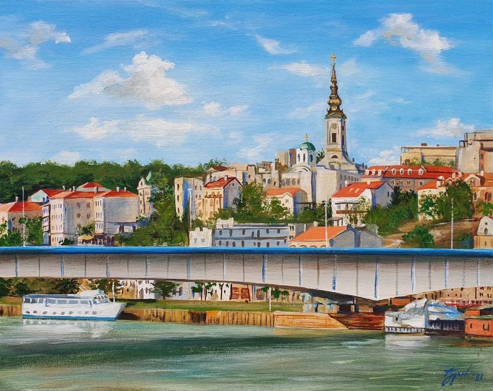 Beograd 1, Marija Djukic, ulje na platnu, 50×40 cm, sertifikat, 110 eura