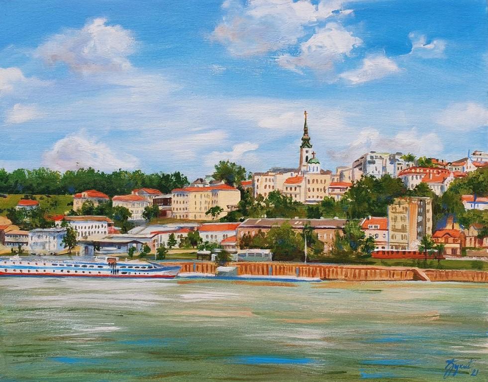 Beograd 2, Marija Djukic, ulje na platnu, 50×40 cm, sertifikat, 110 eura