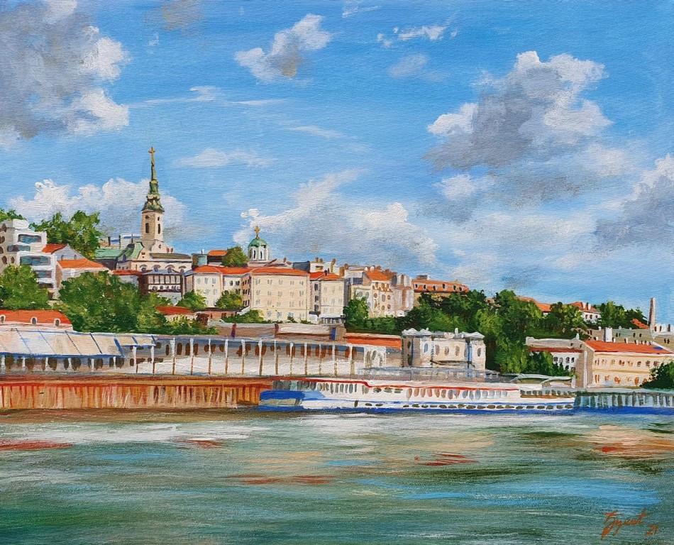 Beograd 4, Marija Djukic, ulje na platnu, 50×40 cm, sertifikat, 110 eura