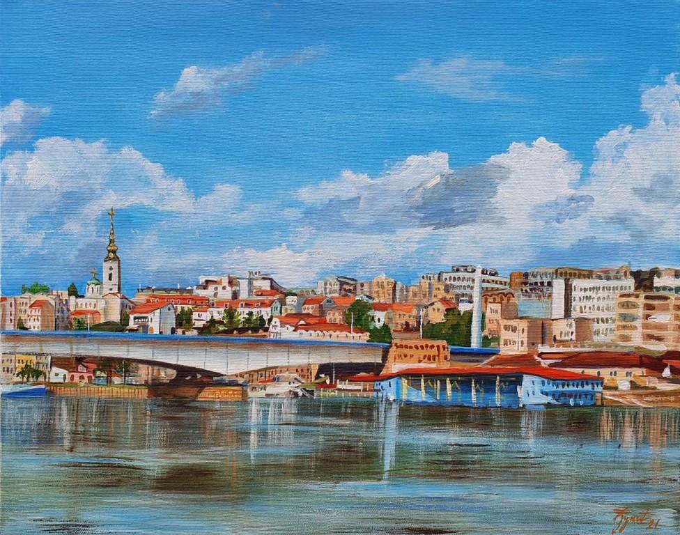 Beograd 5, Marija Djukic, ulje na platnu, 50×40 cm, sertifikat, 110 eura